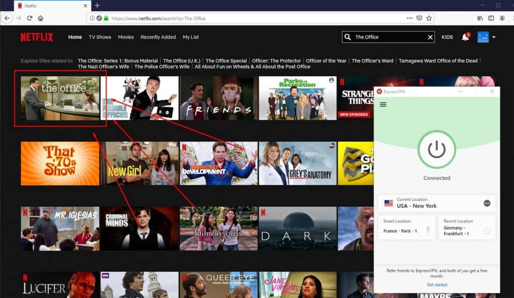 Netflix the Office mit ExpressVPN