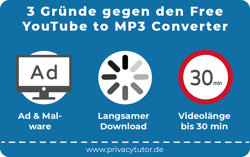 3 Gründe gegen den Free YouTube to MP3 Converter