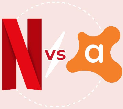 Featured Image transparent Netflix vs Avast