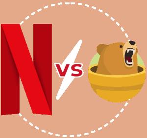 Featured Image transparent Netflix vs Tunnelbear