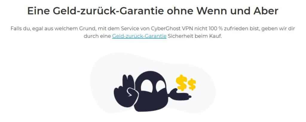 Cyberghost geld zurück