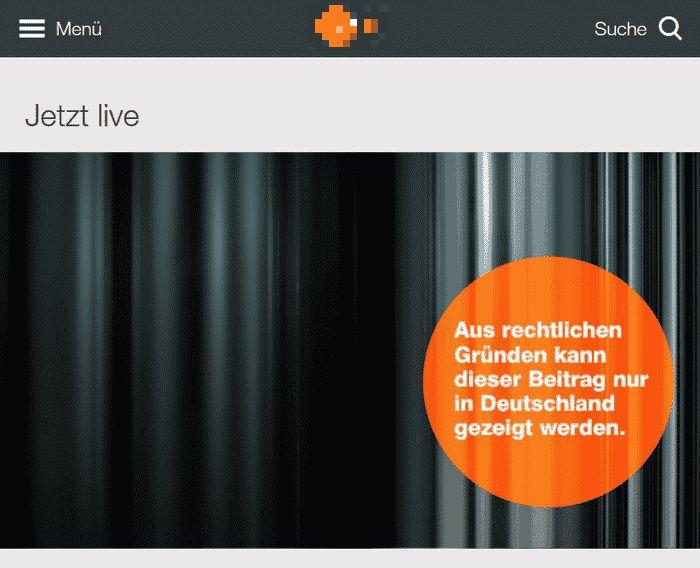 ZDF im Ausland Fehlermeldung
