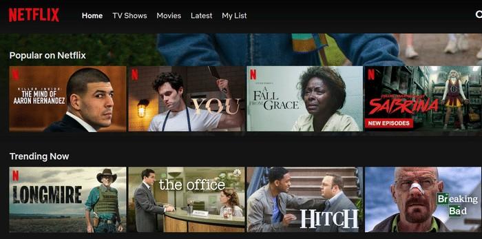 Netflix USA Sortiment