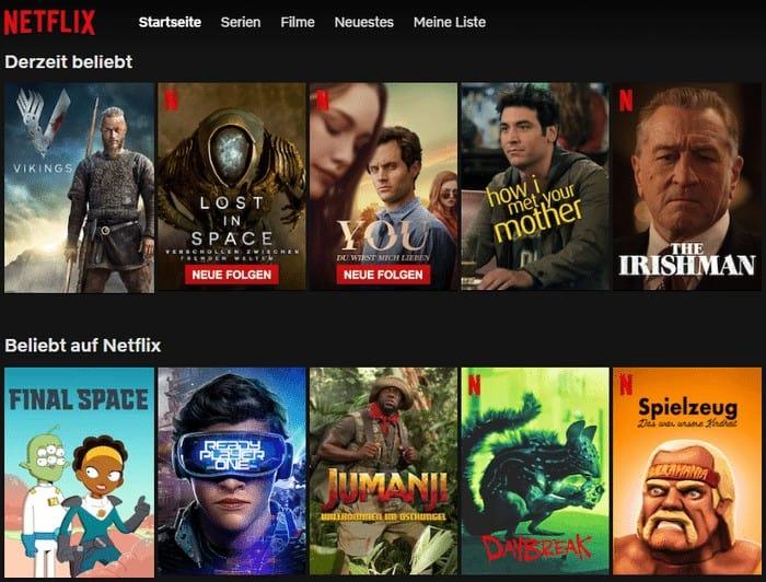 auf Netflix beliebt