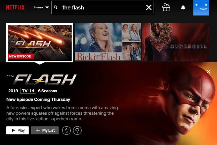 The Flash auf Netflix