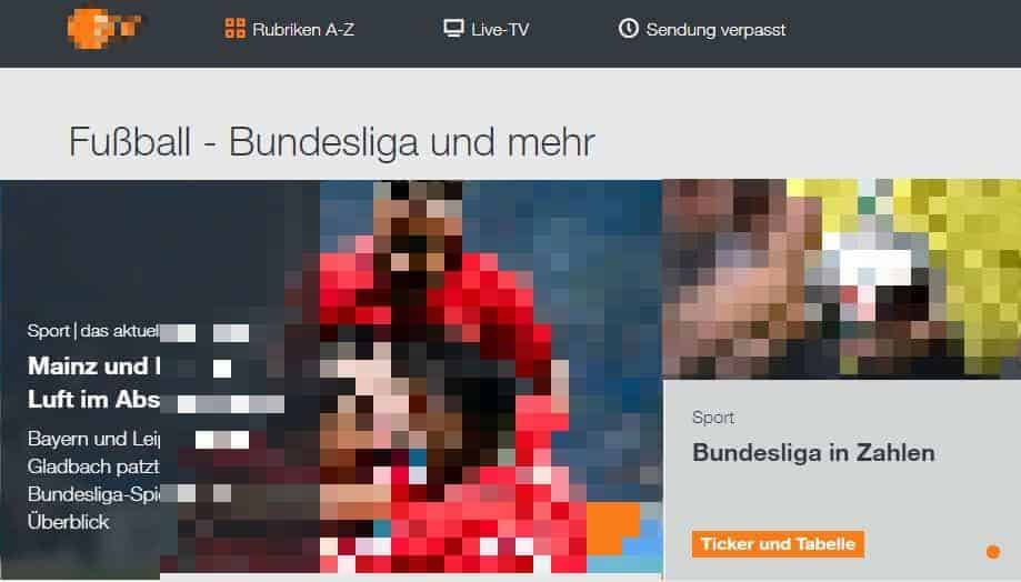 Screenshot: ZDF Livestream im Ausland ansehen