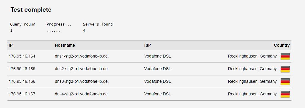 VPN DNS Test ohne VPN