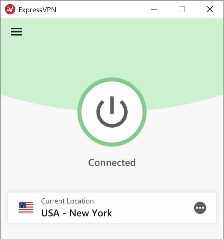 ExpressVPN Screenshot Windows-Anwendung
