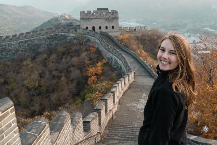 Lena auf der chinesischen Mauer