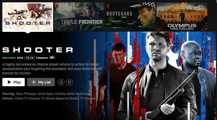 Shooter Serie Netflix