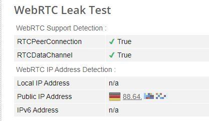 WebRTC-Test ohne VPN
