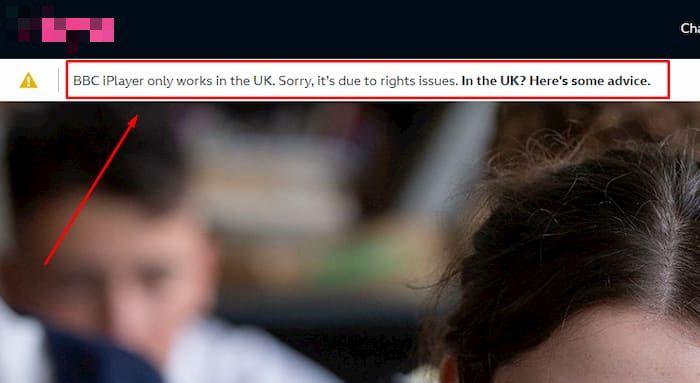BBC iPlayer in Deutschland Fehlermeldung