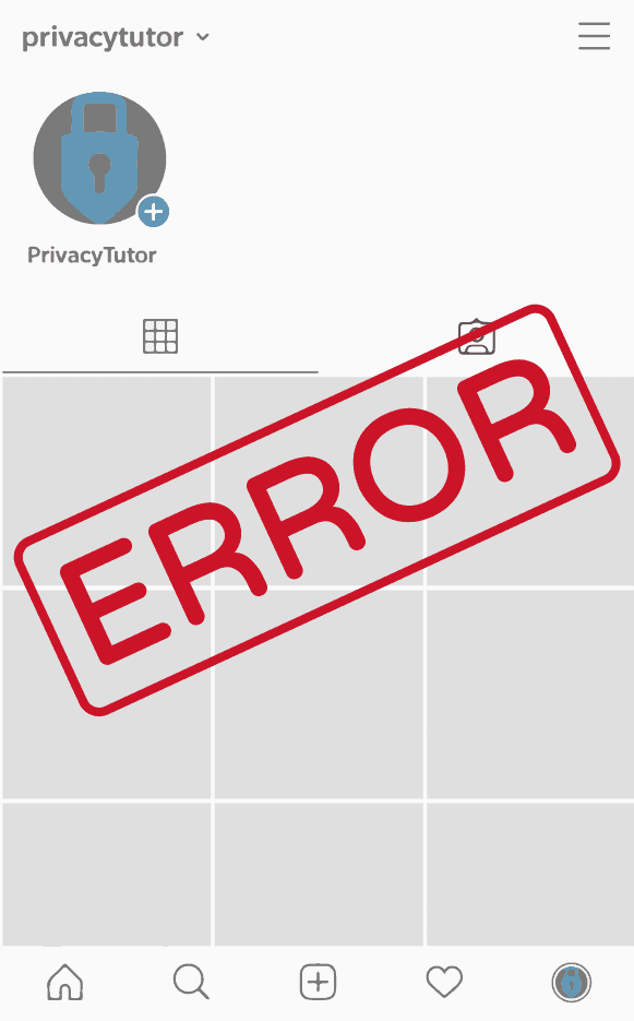 Instagram China Error