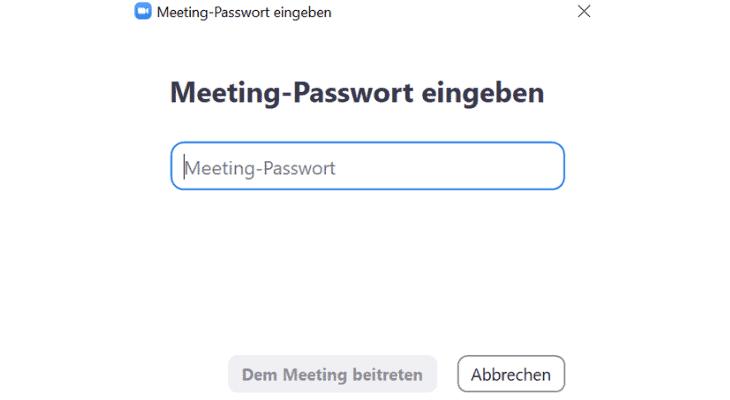 Zoom Sicherheit Passwort Meeting-Passwort