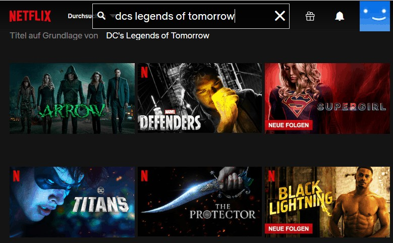 Netflix Legends of Tomorrow ohne VPN
