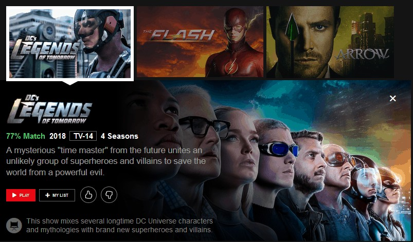 Netflix Legends of Tomorrow