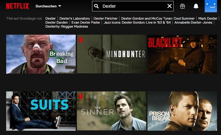 Dexter ohne VPN