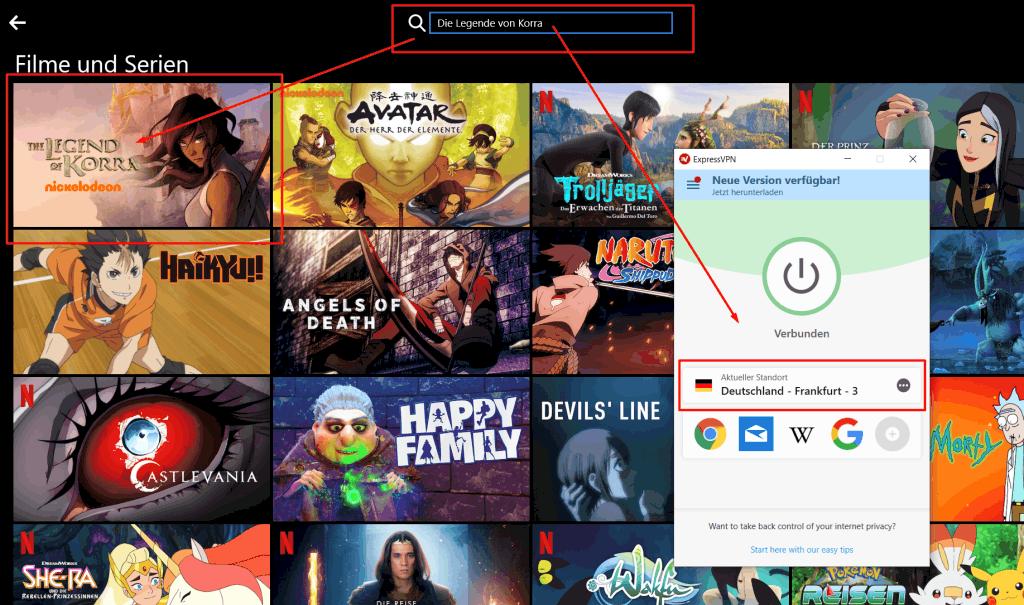 Legende von Korra Netflix