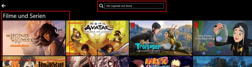 Legende von Korra Netflix DE