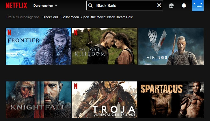 Black Sails ohne VPN