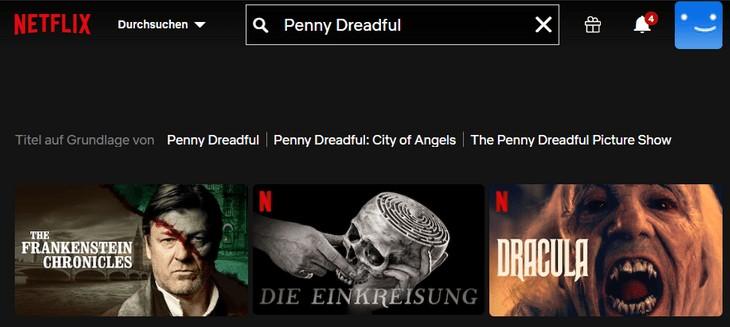 Netflix Penny Dreadful ohne VPN