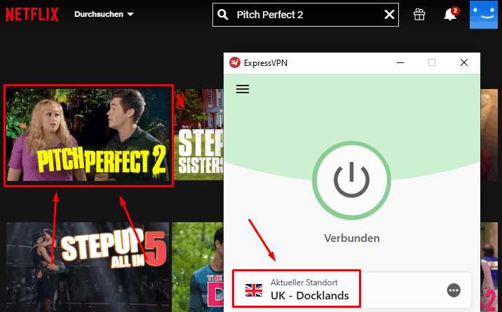 Pitch Perfect 2 mit ExpressVPN