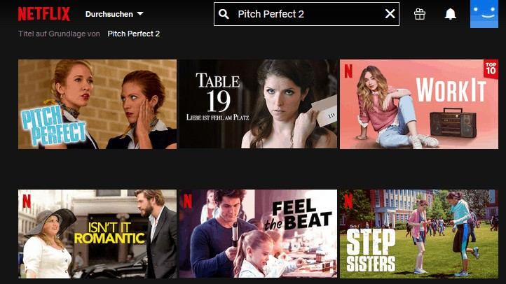 Pitch Perfect ohne VPN