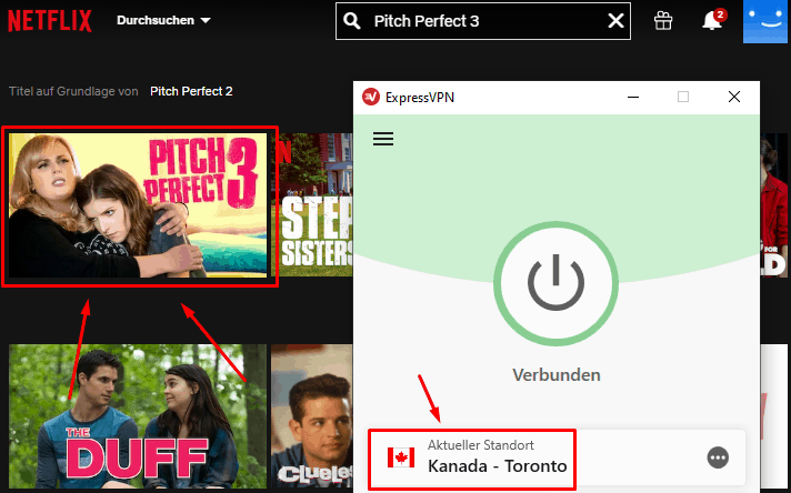 Pitch Perfect 3 mit ExpressVPN