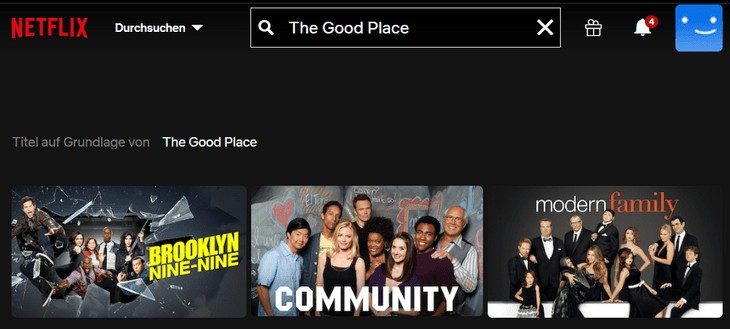 Netflix The Good Place ohne VPN