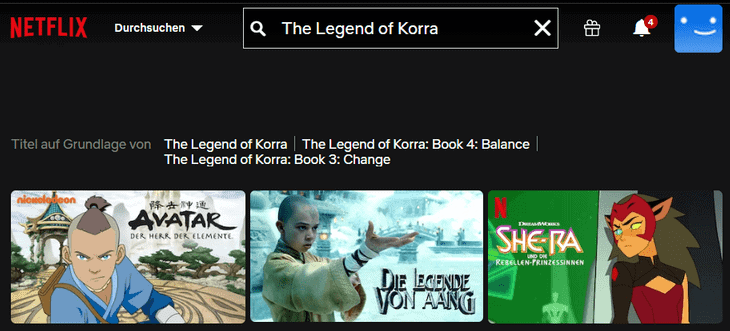 Netflix The Legend of Korra ohne VPN