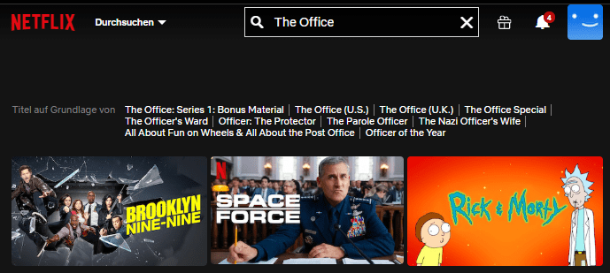 Netflix The Office ohne VPN
