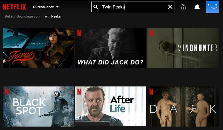 Netflix Twin Peaks ohne VPN