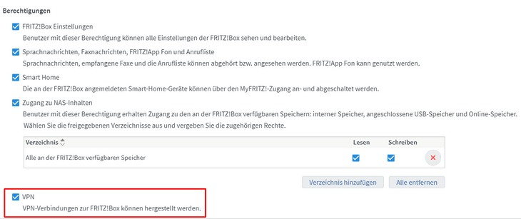 FRITZ!Box VPN 15