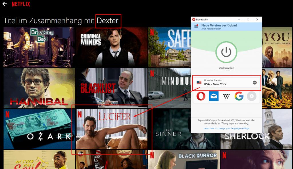 Netflix VPN Dexter Lucifer
