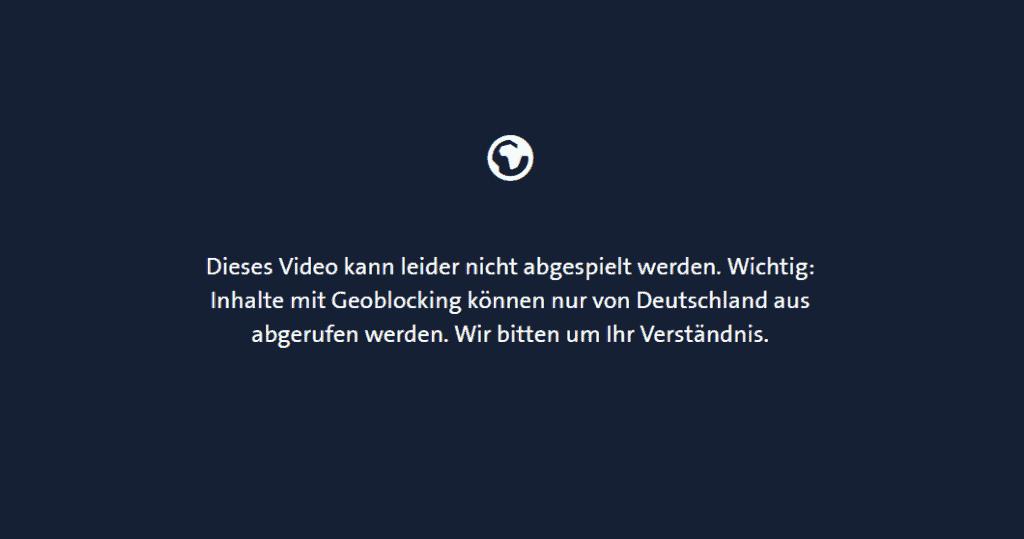 Geoblocking deutsches fernsehen
