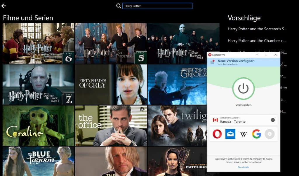 Harry Potter Netflix VPN