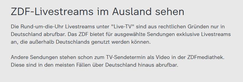 zdf livestream ausland