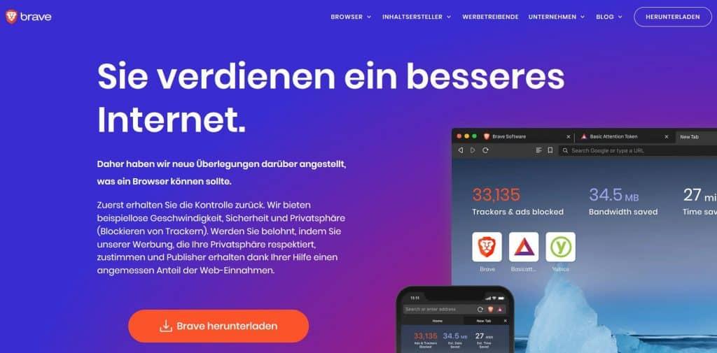 Brave Browser Website