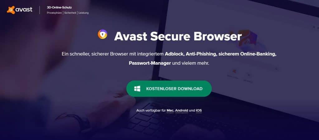 Browser Test Avast Secure Browser