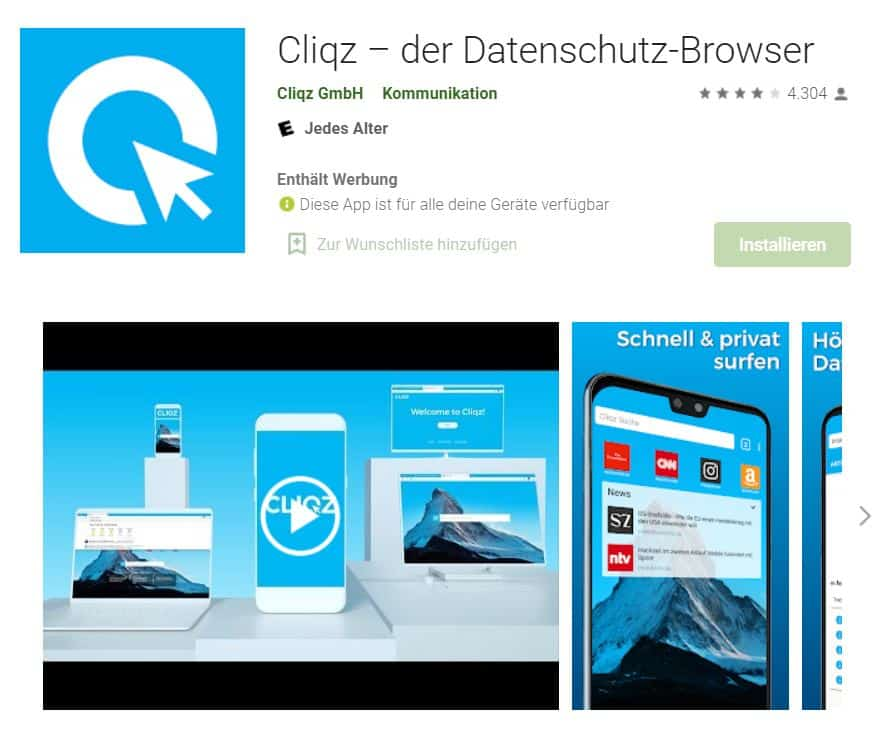 Browsertest Android Cliqz