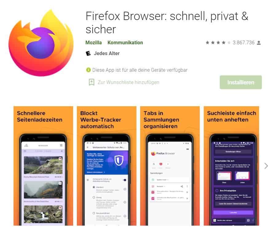 Browsertest Android Firefox