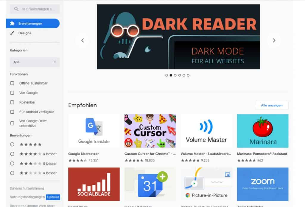 Chrome Extension Store