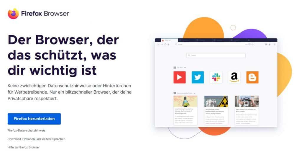 Firefox Browser Website