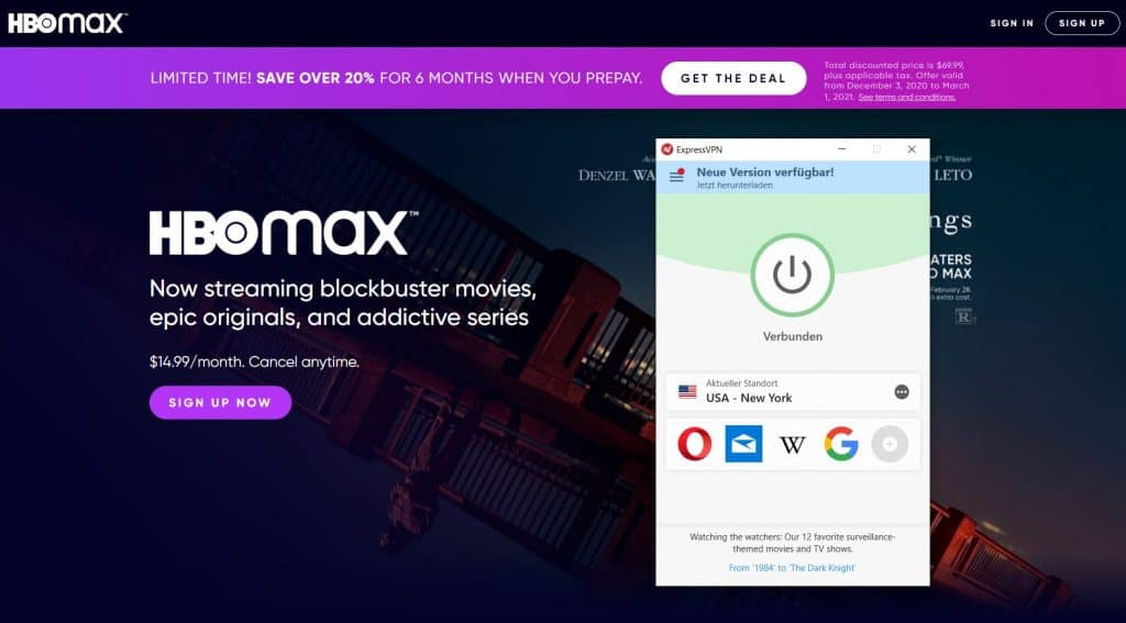 HBO Max VPN USA