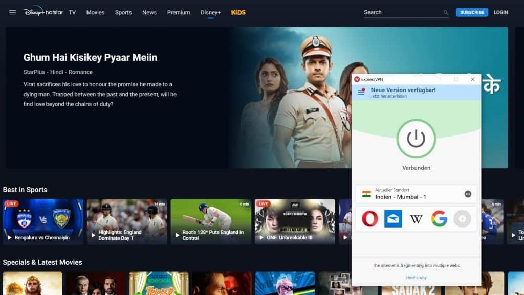 Hotstar VPN Indien