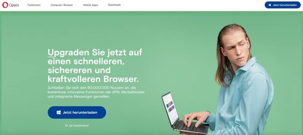 Opera Browser Website