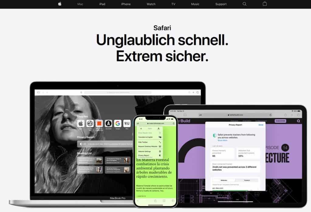 Safari Browser Website