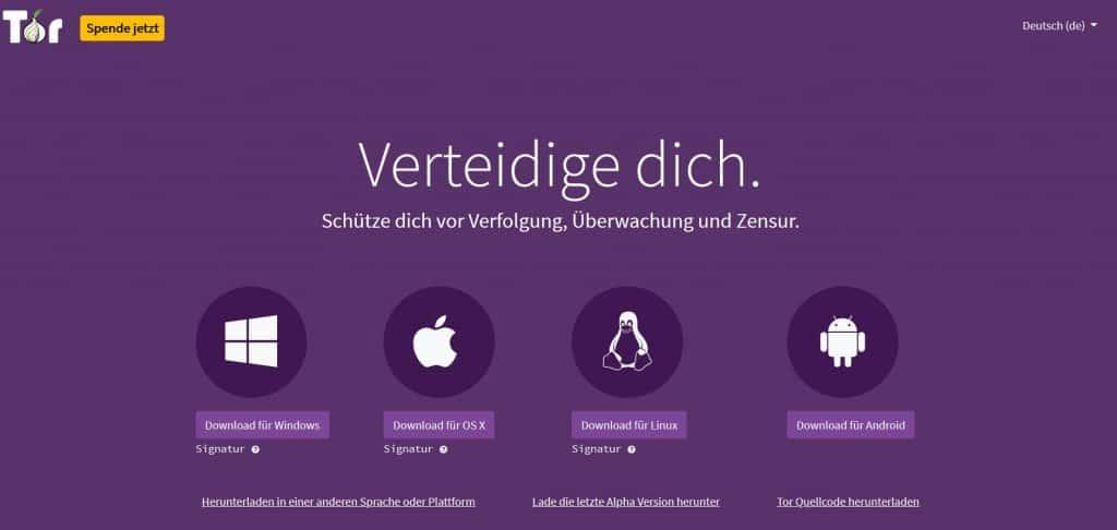 Tor Browser Website