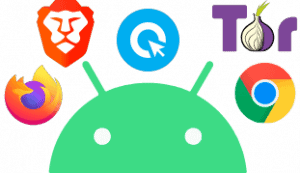 Featured Image transparent Browser Test für Android