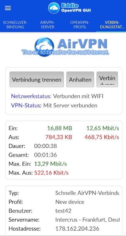 airvpn Design Android